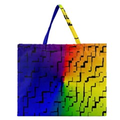 A Creative Colorful Background Zipper Large Tote Bag