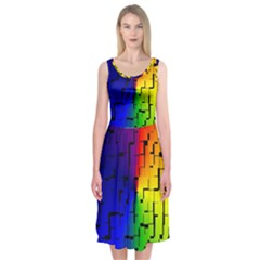 A Creative Colorful Background Midi Sleeveless Dress