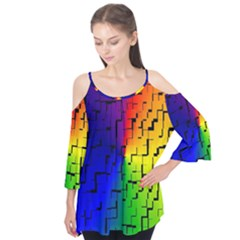 A Creative Colorful Background Flutter Tees