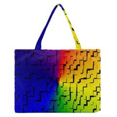 A Creative Colorful Background Medium Zipper Tote Bag