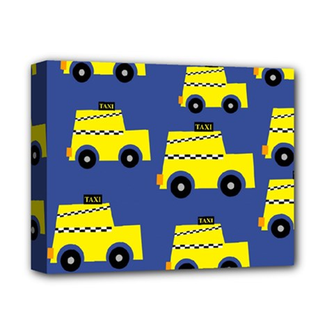 A Fun Cartoon Taxi Cab Tiling Pattern Deluxe Canvas 14  X 11