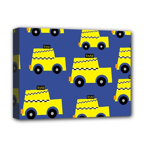 A Fun Cartoon Taxi Cab Tiling Pattern Deluxe Canvas 16  X 12