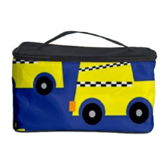 A Fun Cartoon Taxi Cab Tiling Pattern Cosmetic Storage Case