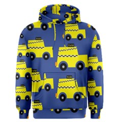 A Fun Cartoon Taxi Cab Tiling Pattern Men s Pullover Hoodie