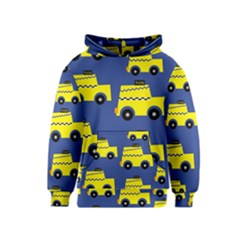 A Fun Cartoon Taxi Cab Tiling Pattern Kids  Pullover Hoodie