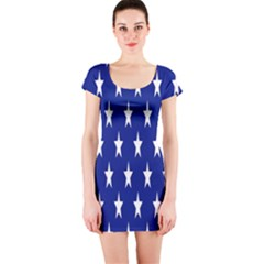 Starry Header Short Sleeve Bodycon Dress