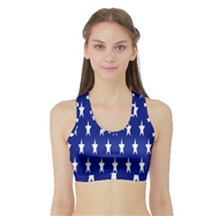 Starry Header Sports Bra with Border