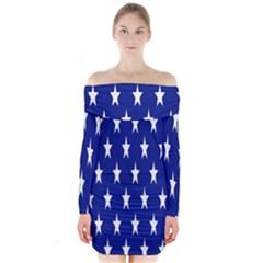 Starry Header Long Sleeve Off Shoulder Dress