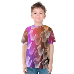 Clipart Hands Background Pattern Kids  Cotton Tee