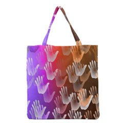 Clipart Hands Background Pattern Grocery Tote Bag