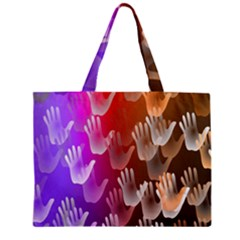 Clipart Hands Background Pattern Mini Tote Bag