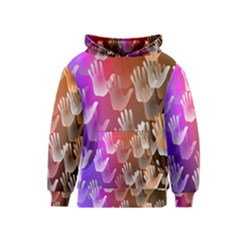 Clipart Hands Background Pattern Kids  Pullover Hoodie
