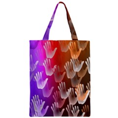 Clipart Hands Background Pattern Zipper Classic Tote Bag