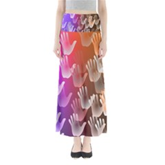 Clipart Hands Background Pattern Maxi Skirts