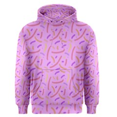 Confetti Background Pattern Pink Purple Yellow On Pink Background Men s Pullover Hoodie