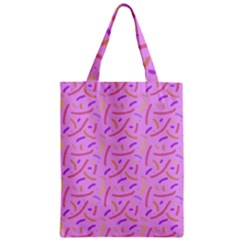 Confetti Background Pattern Pink Purple Yellow On Pink Background Zipper Classic Tote Bag