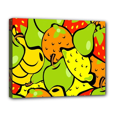 Digitally Created Funky Fruit Wallpaper Canvas 14  x 11
