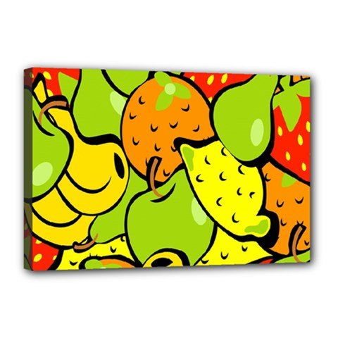 Digitally Created Funky Fruit Wallpaper Canvas 18  x 12