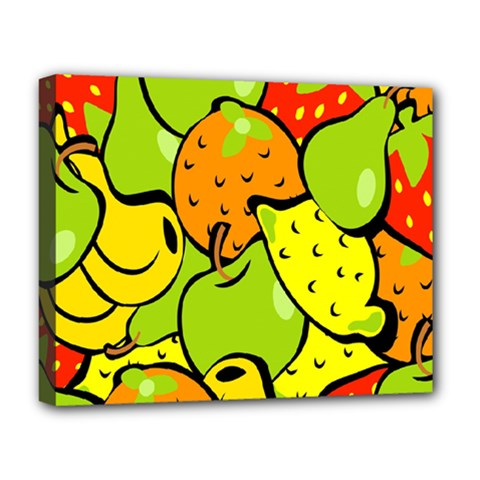 Digitally Created Funky Fruit Wallpaper Deluxe Canvas 20  x 16