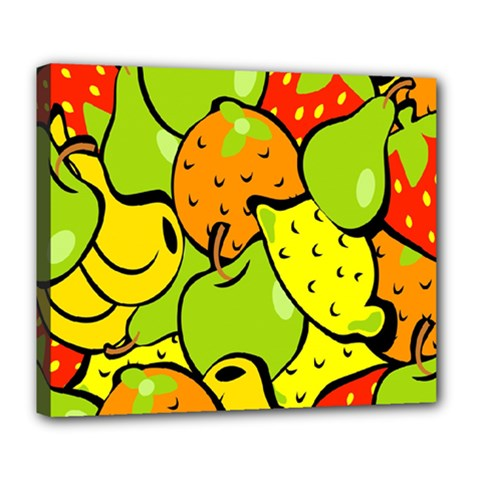 Digitally Created Funky Fruit Wallpaper Deluxe Canvas 24  x 20