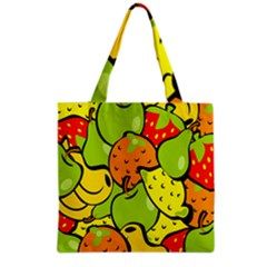 Digitally Created Funky Fruit Wallpaper Grocery Tote Bag