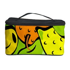 Digitally Created Funky Fruit Wallpaper Cosmetic Storage Case