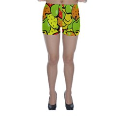 Digitally Created Funky Fruit Wallpaper Skinny Shorts