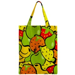 Digitally Created Funky Fruit Wallpaper Zipper Classic Tote Bag