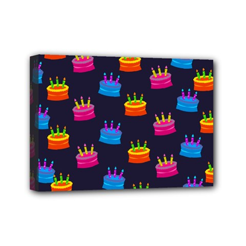 A Tilable Birthday Cake Party Background Mini Canvas 7  x 5