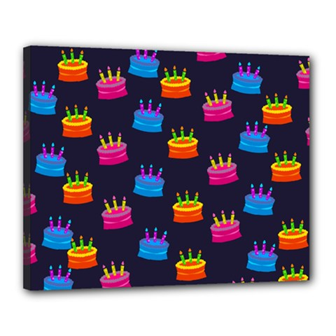 A Tilable Birthday Cake Party Background Canvas 20  X 16