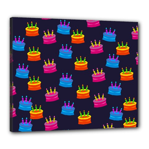 A Tilable Birthday Cake Party Background Canvas 24  X 20