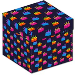 A Tilable Birthday Cake Party Background Storage Stool 12