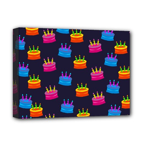 A Tilable Birthday Cake Party Background Deluxe Canvas 16  x 12