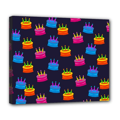 A Tilable Birthday Cake Party Background Deluxe Canvas 24  X 20