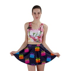 A Tilable Birthday Cake Party Background Mini Skirt