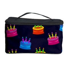 A Tilable Birthday Cake Party Background Cosmetic Storage Case