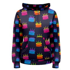 A Tilable Birthday Cake Party Background Women s Pullover Hoodie