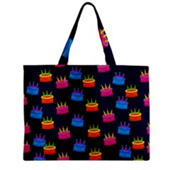 A Tilable Birthday Cake Party Background Zipper Mini Tote Bag