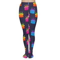 A Tilable Birthday Cake Party Background Women s Tights