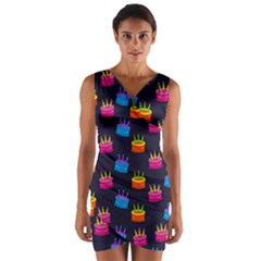 A Tilable Birthday Cake Party Background Wrap Front Bodycon Dress