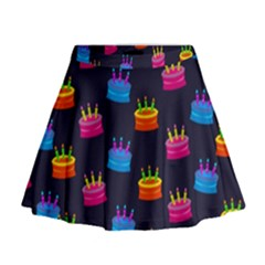A Tilable Birthday Cake Party Background Mini Flare Skirt