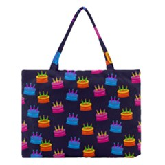 A Tilable Birthday Cake Party Background Medium Tote Bag