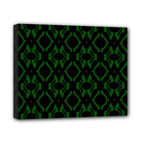 Green Black Pattern Abstract Canvas 10  X 8