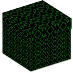Green Black Pattern Abstract Storage Stool 12