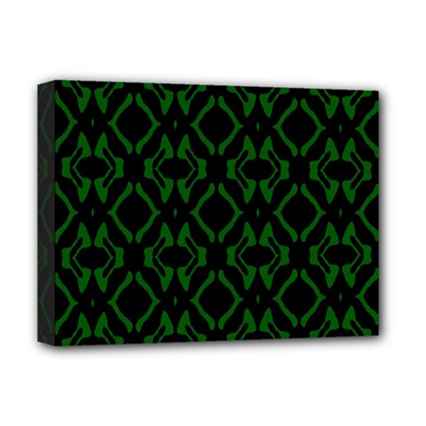 Green Black Pattern Abstract Deluxe Canvas 16  X 12