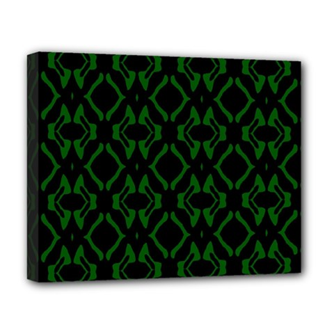 Green Black Pattern Abstract Deluxe Canvas 20  x 16