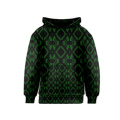 Green Black Pattern Abstract Kids  Pullover Hoodie
