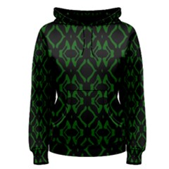 Green Black Pattern Abstract Women s Pullover Hoodie