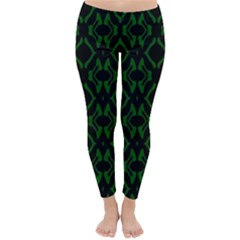 Green Black Pattern Abstract Classic Winter Leggings