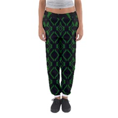 Green Black Pattern Abstract Women s Jogger Sweatpants